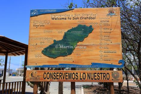 1b.'Conserve what we have' sign in San Cristobal town